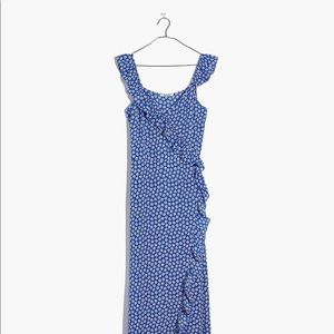 Wrap maxi Madewell dress in mini daisy. NEW.